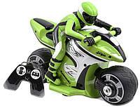 Kid Galaxy Мотоцикл кавасаки ниндзя на радиоуправлении RC Kawasaki Ninja Bike Green/Black