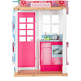 Barbie Гламурный портативный домик Барби без куклы дом 2-Story House DVV47 Close-and-Go Portable Playset, фото 2