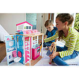 Barbie Гламурный портативный домик Барби без куклы дом 2-Story House DVV47 Close-and-Go Portable Playset, фото 4