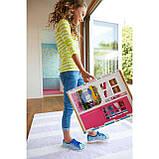 Barbie Гламурный портативный домик Барби без куклы дом 2-Story House DVV47 Close-and-Go Portable Playset, фото 5