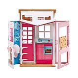Barbie Гламурный портативный домик Барби без куклы дом 2-Story House DVV47 Close-and-Go Portable Playset, фото 6