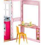 Barbie Гламурный портативный домик Барби без куклы дом 2-Story House DVV47 Close-and-Go Portable Playset, фото 7