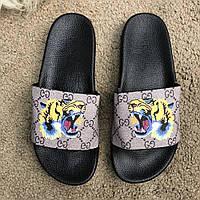 Gucci Slide Sandal GG Supreme Tiger, фото 1