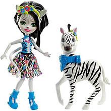 Enchantimals Зелена Зебра с другом Хуффит Fky75 Zelena Zebra Doll Hoofette Figure