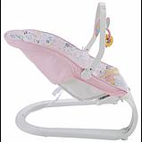 Fisher-Price Детский шезлонг кресло-качалка обезьянка Comfort Curve Bouncer Tiny Tea Time, фото 2