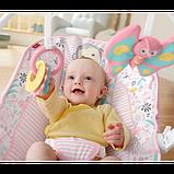 Fisher-Price Детский шезлонг кресло-качалка обезьянка Comfort Curve Bouncer Tiny Tea Time, фото 4