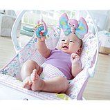 Fisher-Price Детский шезлонг кресло-качалка обезьянка Comfort Curve Bouncer Tiny Tea Time, фото 5