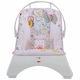 Fisher-Price Детский шезлонг кресло-качалка обезьянка Comfort Curve Bouncer Tiny Tea Time, фото 6