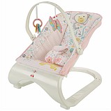 Fisher-Price Детский шезлонг кресло-качалка обезьянка Comfort Curve Bouncer Tiny Tea Time, фото 7