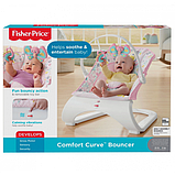 Fisher-Price Детский шезлонг кресло-качалка обезьянка Comfort Curve Bouncer Tiny Tea Time, фото 9