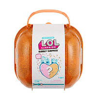 L.O.L. Surprise! Кукла и питомец сюрприз в чемодане сумочке Золотой 558361 Bubbly Surprise Orange