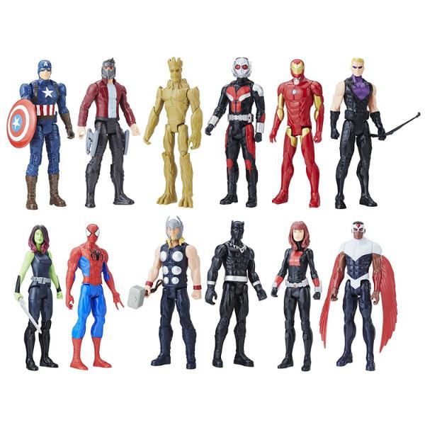 Avengers Titan Hero Мстители 12 героев в наборе Series 12 Pack Action Figures