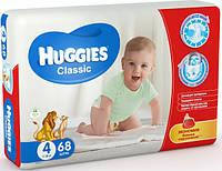 Подгузники HUGGIES классик (7-16кг.) №4 MEGO 68 шт