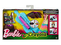 Barbie Crayola Набор одежды Барби Сотри и нарисуй Радуга Дизайн FHW85 FHW86 Rainbow Design Fashion Set