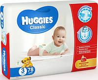 Подгузники HUGGIES классик (4-9кг.) №3 MEGO 78 шт