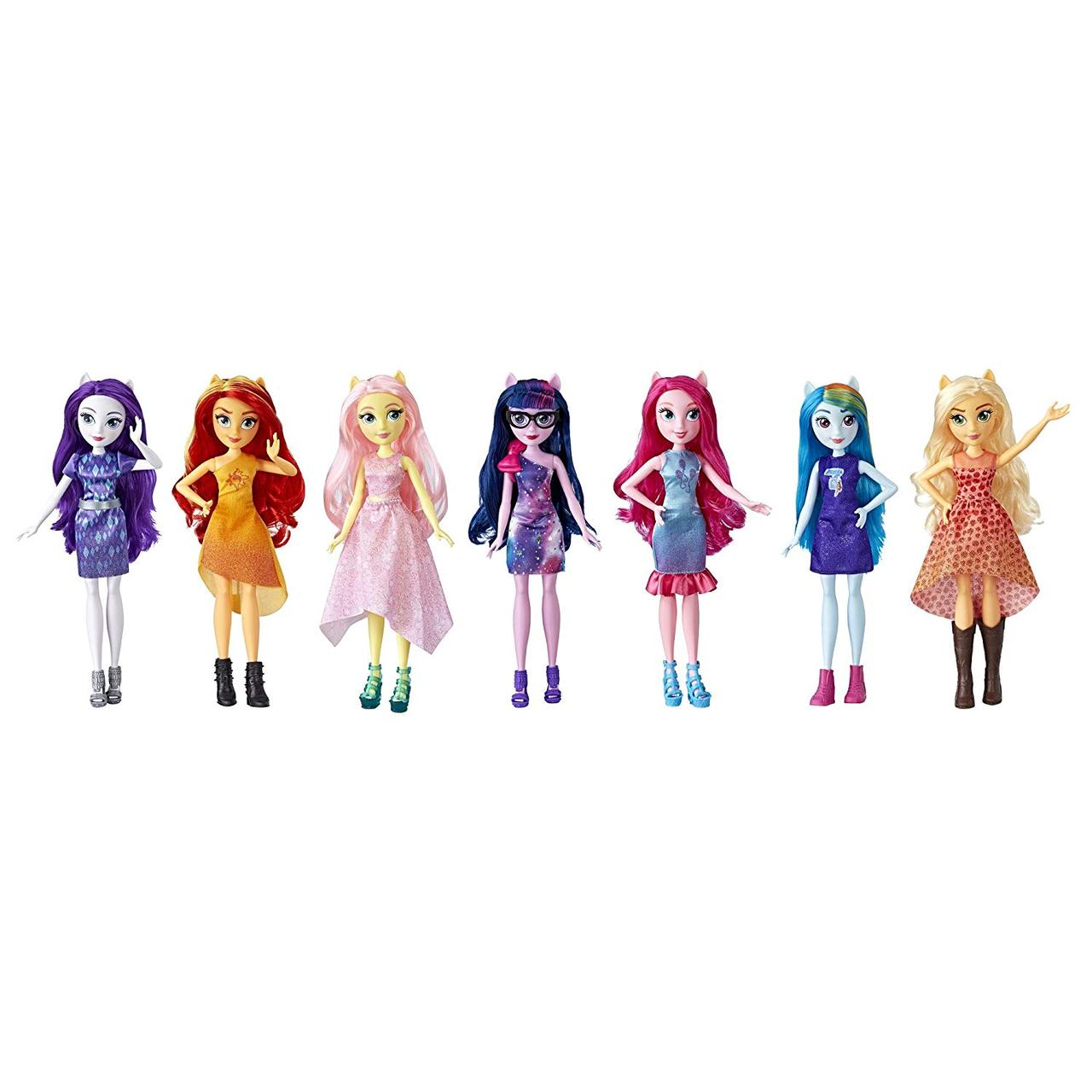 My Little Pony Equestria Girls девочки эквестрии набор из 7-ми кукол вечеринка Friendship Party Pack