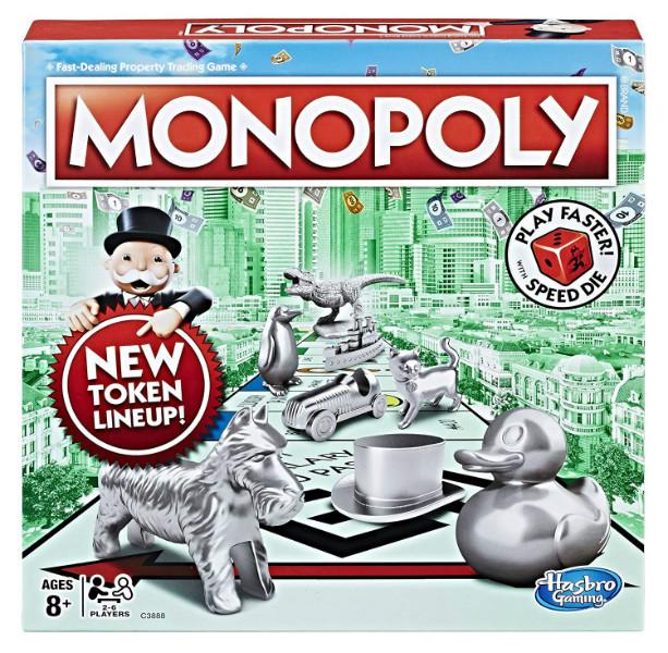 Hasbro Настольная игра Классическая Монополия C3888 C1009 Monopoly Speed Die Edition Board Game