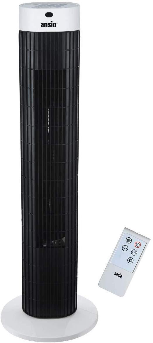 3-швидкісний осцилювальний вентилятор ANSIO Tower Fan 30-дюймовий з пультом дистанційного керування для будинку