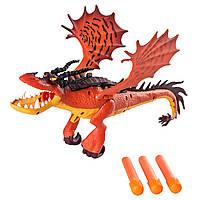 Dreamworks Dragons Как приручить дракона Функциональный дракон Кривоклык 20080797 Hookfang Dragon Blaster with Foam Darts
