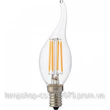 Светодиодная лампа FILAMENT FLAME-6 6W Е14 4200К