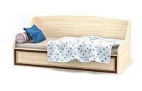 Кровать-тапчан односпальная Мебель-Сервис Дисней + каркас 90х200 дуб светлый