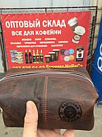 Кожаная подарочная сумка с кофе, фото 1