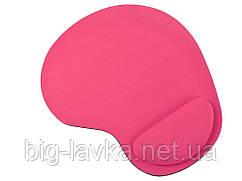 Коврик для мыши с подушкой под запястье  Wrist Protect  Розовый