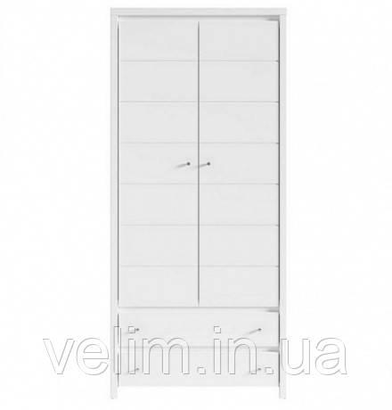 Шкаф распашной BRW Кристина SZF2D2S 90х200,5х55,5 белый, фото 1
