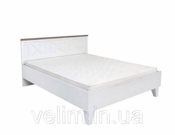 Кровать двуспальная Gerbor Тина + ламель 180х200 сосна каньйон/дуб сонома трюфель, фото 1