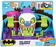 Трек Хот Вилс Веселый дом Джокера Hot Wheels DC The Joker Playset, фото 6