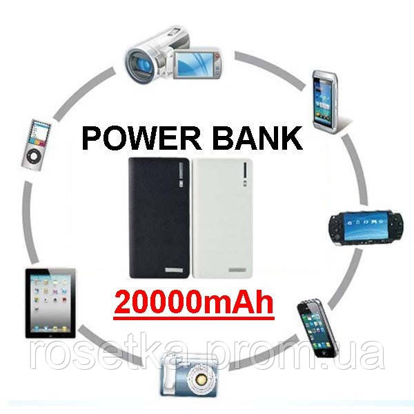Внешний аккумулятор Power Bank 20000 mAh