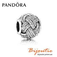 Pandora Шарм СВЕРКАЮЩИЕ ЛЮБОВНЫЕ УЗЫ 791537CZ серебро 925 Пандора оригинал