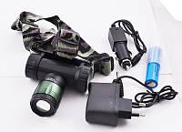 Налобний ліхтар акумуляторний Bailong Police BL-6866-T6