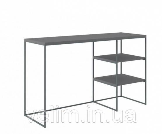 Стол письменный Gerbor Мерс BIU/140 140х73х52 антрацит/серый софт тач, фото 1