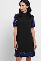 Короткое платье с рукавами из пайеток, фото 1