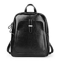 Рюкзак сумка кожаный женский городской. Рюкзак трансформер из натуральной кожи (черный)