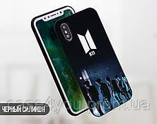 Силиконовый чехол для Huawei Honor 7x Лого BTS (17150-3228), фото 3