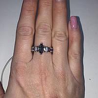 Красивое кольцо с  мистик топазом и аметистами в серебре. Кольцо топаз 17,3 размер
