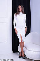 Елегантне трикотажне плаття з коміром стійка і розрізом на нозі Blackwood