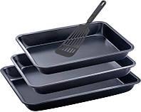Набор форм для выпечки Wellberg: 3 формы + лопатка