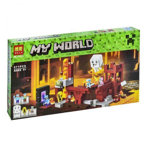 """Конструктор Bela My World №10393 """"Подземная крепость"""", 571 деталь, в коробке"""