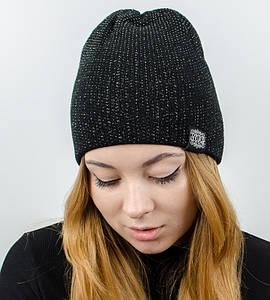 """Женская шапка """"Ника"""", (черный)"""