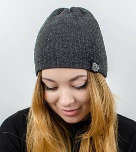 """Женская шапка """"Ника"""", (темно-серый)"""