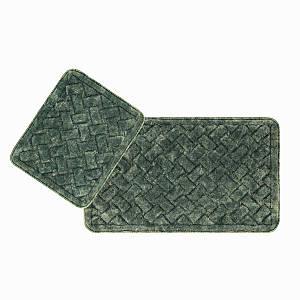 Набір килимків 2 предмета зелені Hasir Arya AR-TR1006872-green