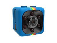 Мини камера SQ11 с ночной подсветкой, датчиком движения и углом обзора 140°  Синий