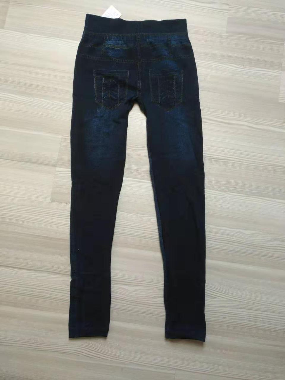 Женские джинсовые лосины на меху ТМ CASTOM Арт.15120