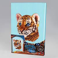 Вышивка гладью на подрамнике Тигр, VGL-02-05