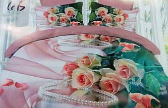 Комплект постельного белья от украинского производителя Polycotton Двуспальный T-90932, фото 2