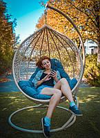 Подвесное Кресло Кокон из ротанга Эмилия