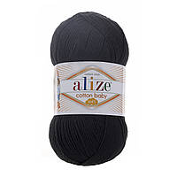 Alize Cotton Baby Soft черный № 60, фото 1